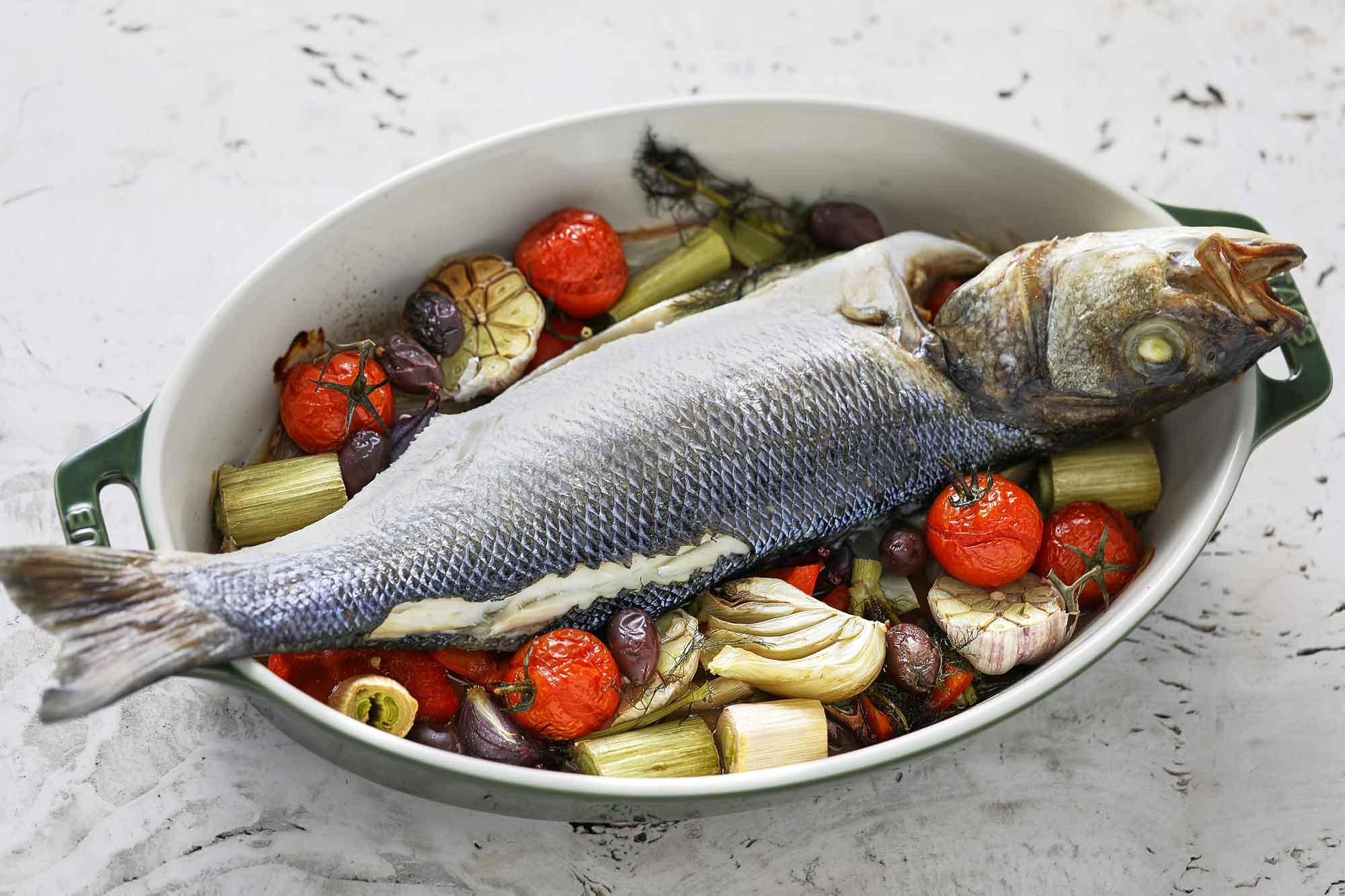 Ryba Pieczona Z Warzywami Fish Lovers